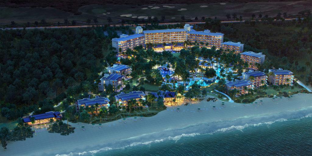 Conrad Playa Mita Resort at Night